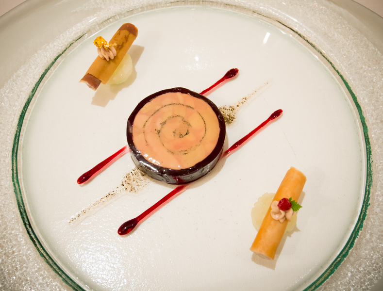Galantine from Goose Liver in Jelly from Old Port with iced Figs-Confit