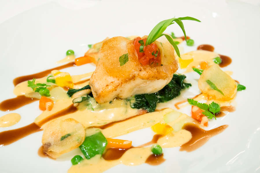Monkfish on Spring Vegetables