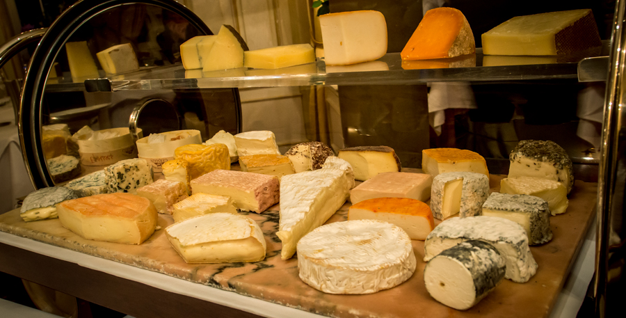 Assortment from the Cheese-Trolley