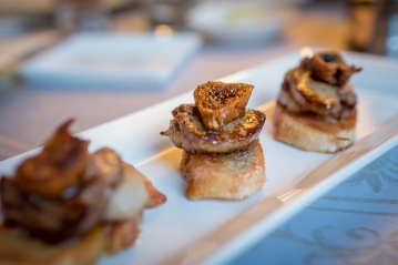 Foie Gras on Toast topped with sliced Dates