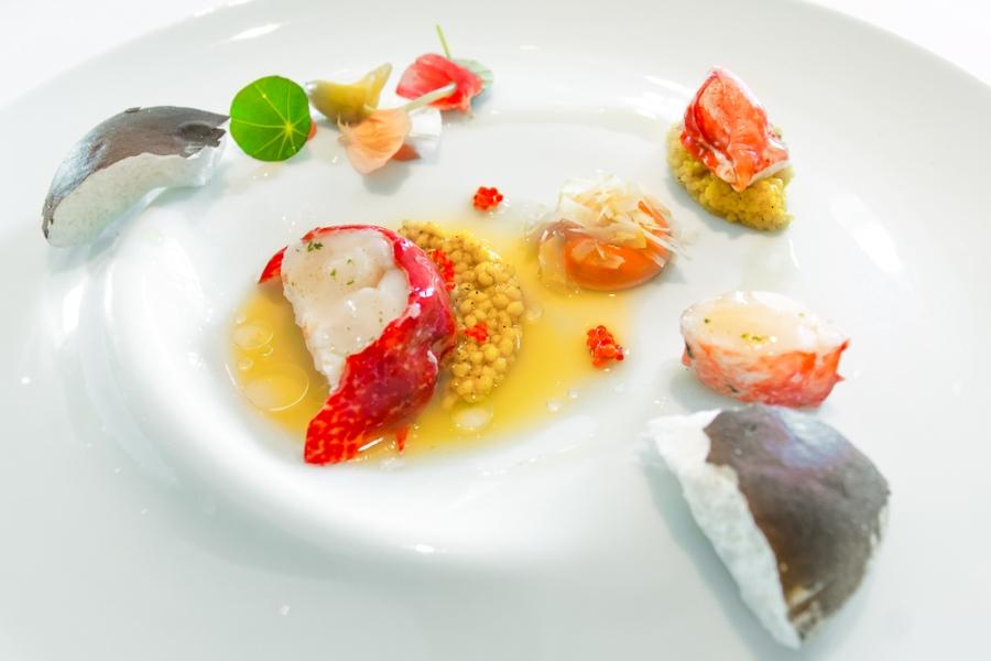 Blue Lobster [coconut baiser; Mumbai-curry vinaigrette]
